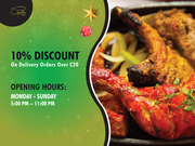 10% Discount on Delivery Orders Over £20.